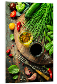 Stampa su schiuma dura  Healthy Bio Vegetables and spices