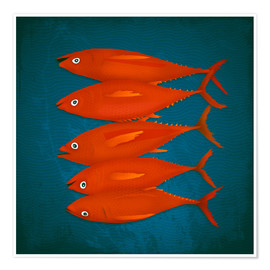 Poster red fish