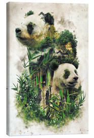 Stampa su tela  The Giant Panda - Barrett Biggers