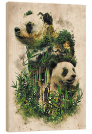 Stampa su legno  The Giant Panda - Barrett Biggers