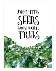 Poster Premium From little seeds grow mighty trees