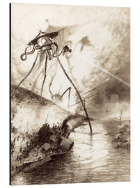 Alluminio Dibond  Martian Fighting Machine in the Thames Valley - Henrique Alvim Correa