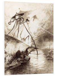 Stampa su PVC  Martian Fighting Machine in the Thames Valley - Henrique Alvim Correa