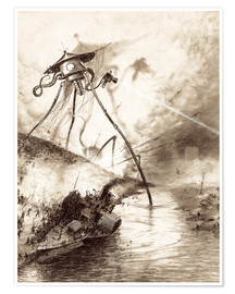 Poster Premium Martian Fighting Machine in the Thames Valley