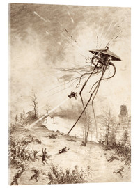 Vetro acrilico  Martian Fighting Machine Hit by Shell - Henrique Alvim Correa