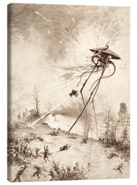 Stampa su tela  Martian Fighting Machine Hit by Shell - Henrique Alvim Correa