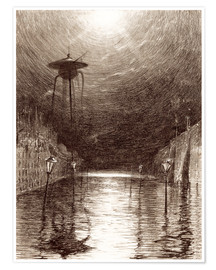Poster Premium  Martian Machine Over the Thames - Henrique Alvim Correa