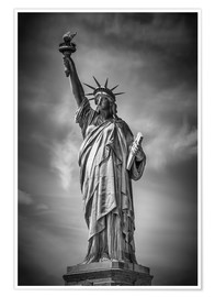 Poster Premium  NEW YORK CITY Statue of Liberty - Melanie Viola