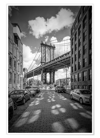 Poster  NEW YORK CITY Manhattan Bridge - Melanie Viola