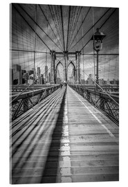 Vetro acrilico  NEW YORK CITY Brooklyn Bridge - Melanie Viola
