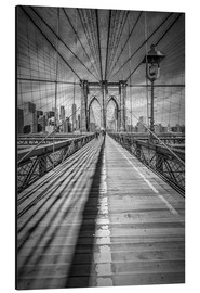 Alluminio Dibond  NEW YORK CITY Brooklyn Bridge - Melanie Viola