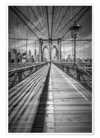 Poster Premium  NEW YORK CITY, Ponte di Brooklyn - Melanie Viola