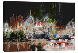 Stampa su tela  Queen Mary in the dock - Peter Roder