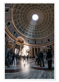 Poster Premium The Pantheon in Rome, Italy