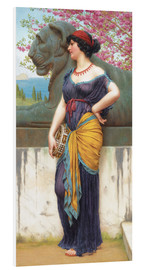 Stampa su schiuma dura  In the grove of the Temple of Isis - John William Godward