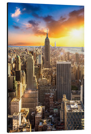 Stampa su alluminio  Tramonto su Manhattan a New York City, Stati Uniti - Jan Christopher Becke