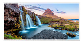 Poster Premium  Magical Iceland, Waterfall on Snaefellsnes - Sascha Kilmer