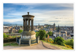 Poster Premium Edinburgh view from Calton Hill