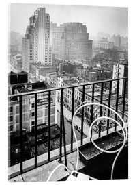 Stampa su vetro acrilico  New York: View from penthouse, 56 Seventh Avenue, Manhattan - Christian Müringer