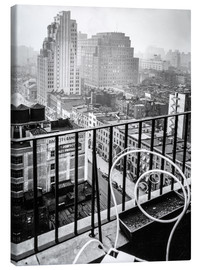 Stampa su tela  New York: View from penthouse, 56 Seventh Avenue, Manhattan - Christian Müringer