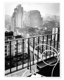 Poster Premium New York: View from penthouse, 56 Seventh Avenue, Manhattan