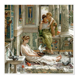 Poster Premium  The corner of the villa - Sir Edward John Poynter
