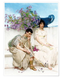 Poster Premium  An Eloquent Silence - Lawrence Alma-Tadema