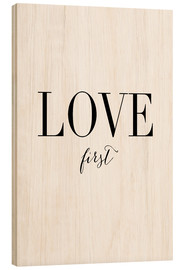 Stampa su legno  Love first - Amy and Kurt