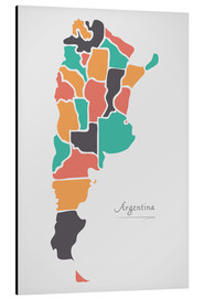 Stampa su alluminio  Argentina map modern abstract with round shapes - Ingo Menhard