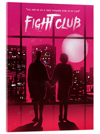 Vetro acrilico  Fight club movie scene art print - 2ToastDesign