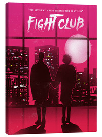 Tela  Fight club movie scene art print - 2ToastDesign