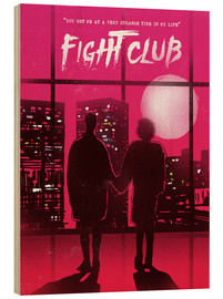 Legno  Fight club movie scene art print - 2ToastDesign