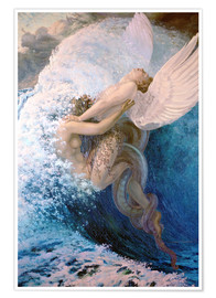 Poster Premium  Spleen and Ideal - Carlos Schwabe