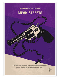 Poster No823 My Mean streets minimal movie poster