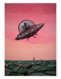 Poster Premium  Visit from space - Diego Manuel Rodriguez