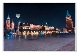 Poster Premium World Famous Cracow Main Square