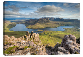 Stampa su tela  View from Stac Pollaidh in Scotland - Michael Valjak