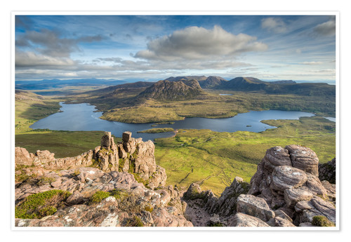 Poster Premium View from Stac Pollaidh in Scotland