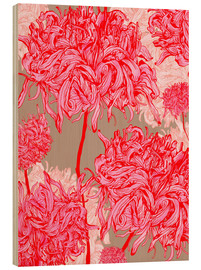 Legno  Pretty in pink chrysanthemum - Ella Tjader