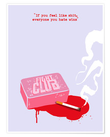 Poster Premium  Fight Club - Golden Planet Prints