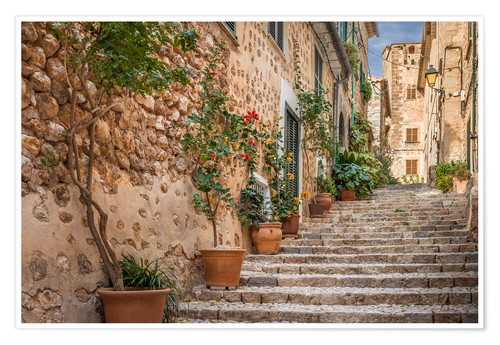 Poster Premium Fornalutx - Most beautiful village in Majorca