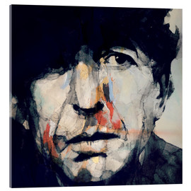 Vetro acrilico  Leonard Cohen   Hey That's No Way To Say Goodbye - Paul Paul Lovering Arts
