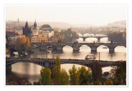 Poster  Prague bridges - Dennis Fischer