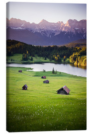 Stampa su tela  Sunrise in the Alps - Dennis Fischer