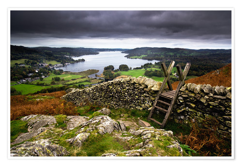 Poster Premium Lake District View