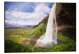 Stampa su alluminio  Waterfall with rainbow - Dennis Fischer