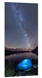 Stampa su PVC  Panoramic of Milky Way on Mont Blanc, France - Roberto Sysa Moiola