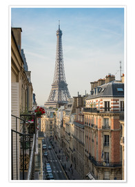Poster Premium  View over the rooftops of Paris, France - Jan Christopher Becke