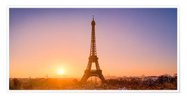 Poster Premium City view with Eiffel Tower, Paris, France