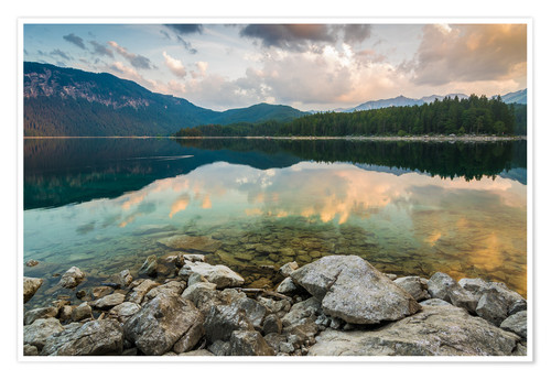 Poster Premium Eibsee at dawn